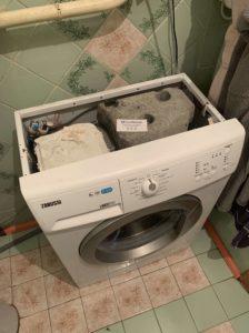 Устранение протечки под манжетой в стиральной машине Zanussi