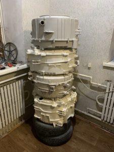 Баки после ремонта. Замена подшипников в Wash Service