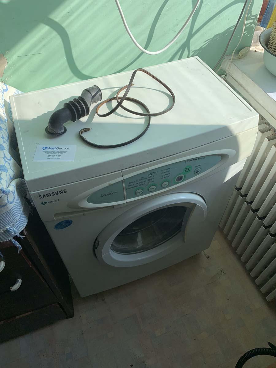 Замена патрубка и ремня в стиральной машине Samsung
